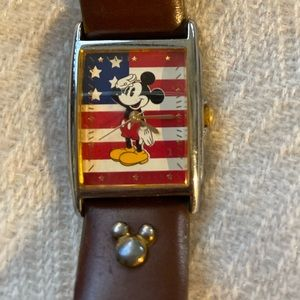 Vintage Mickey Mouse American Flag Watch